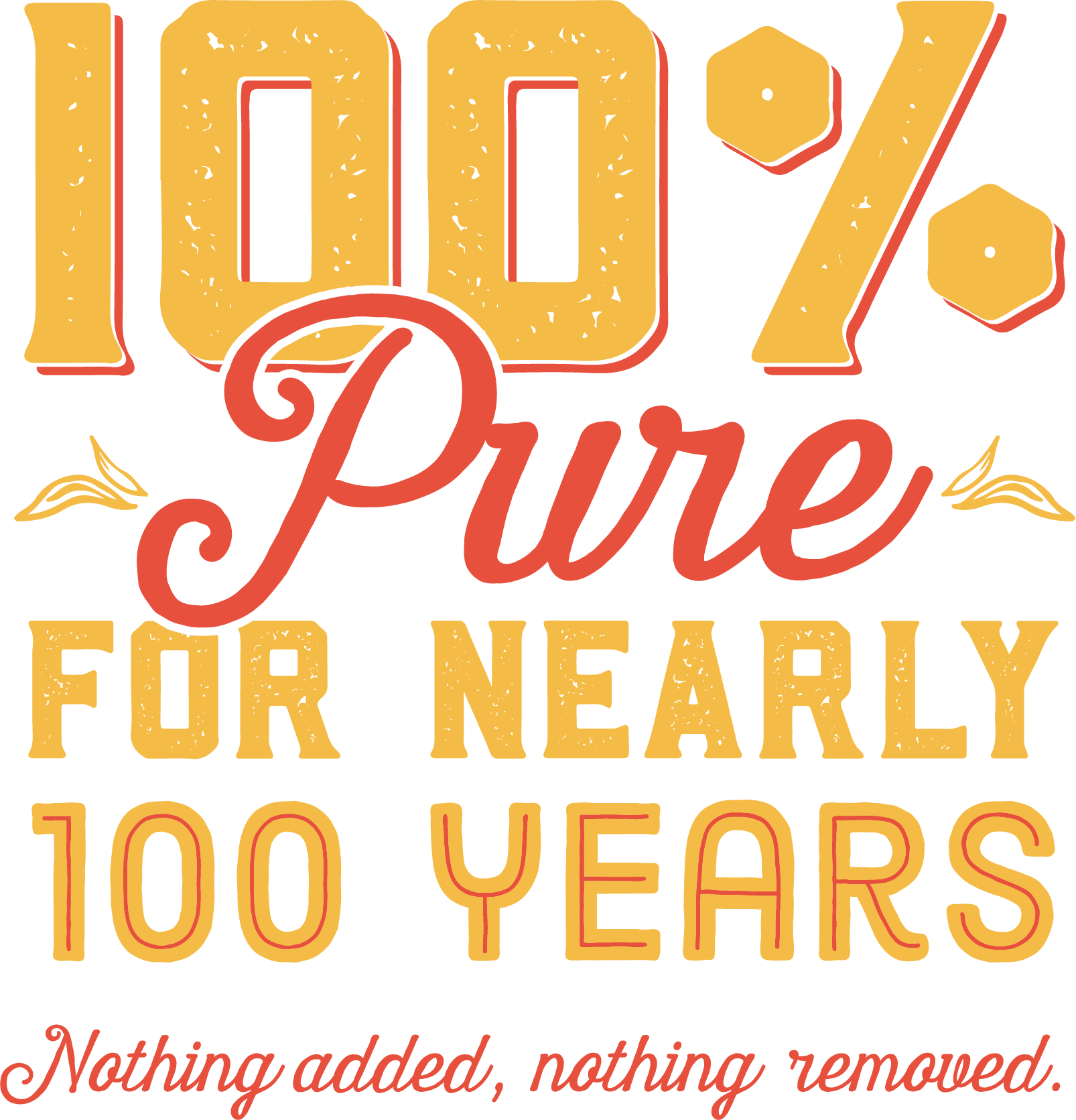 100% pure for nearly 100 years