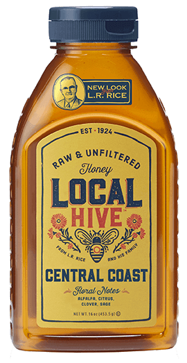 Bottle of Local Central Coast honey