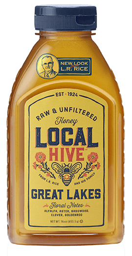 Bottle of Local Great Lakes honey