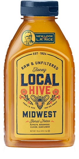 Bottle of Local Midwest honey